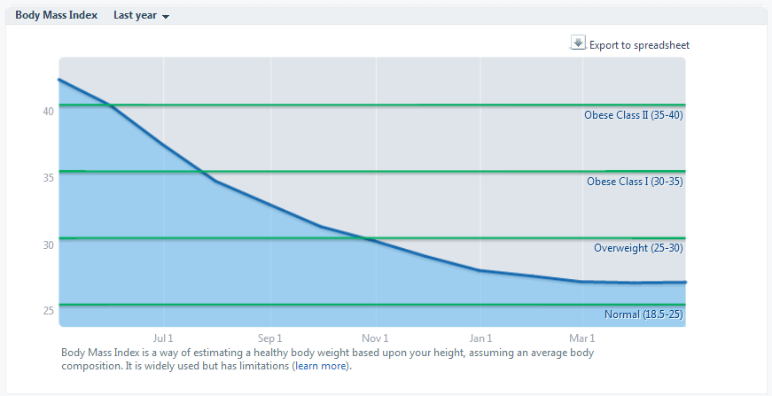 Lose It    Body Mass Index year 1